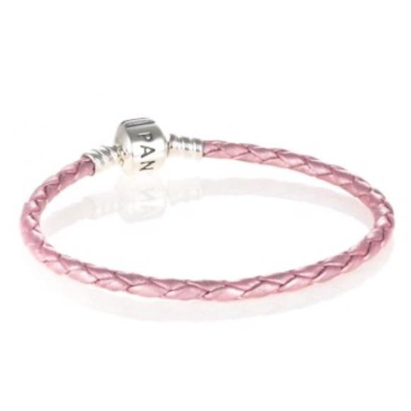 017cfd105 Pandora Single Woven Pink Leather Bracket. M_5a9f48d345b30c4cc91e224e